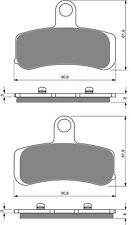 Brake Disc Pads Front  For H/Davidson FLSTC 1584 Heritage Softail Classic