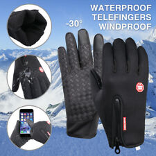 Winter Thermal Full Finger Gloves Outdoor Motorcycle Riding Windproof Anti-slip