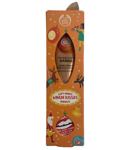 the body shop Soft Hands Warm Kisses mango hand cream lip butter Set