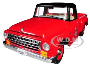 INTERNATIONAL C1100 PICKUP TRUCK RED WITH BLACK TOP 1/25 BY FIRST GEAR 40-0427