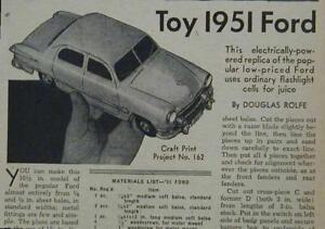 1950's Ford Sedan Motorized 1951 HowTo build PLANS battery powered
