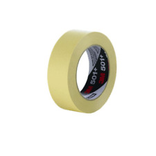 3M™ Specialty High Temperature Masking Tape 501+ Tan, 24 mm x 55 m 7.3 mil