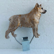 Australian Stumpy Tail Cattle Dog Red Show Ring Clip Dog Breed Jewellery Resin