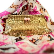 Vintage Whiting and Davis Gold Mesh Clutch Bag Bride Bridal