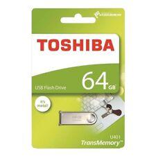 64GB Toshiba TransMemory U401 USB Flash Memory Drive Stick in Metal