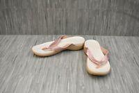 Crocs Capri V Sequin Flip Flop Sandal 204311 - Women's Size 7 - White