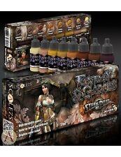 SCALA 75 di vapore e Steampunk Punk Vernice Acrilica Set 8 Bottiglie