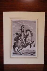 Incisione originale su rame. Cavaliere Cavallo, Palatium