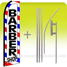 BARBER SHOP - Swooper Flag 15' Kit Feather Banner Sign - (white boxed) bq