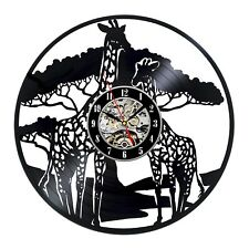 Giraffe Art Handmade Retro Vinyl Record Wall Clock Birthday Gift For Kids