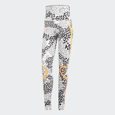 White adidas AU by Stella McCartney TruePace Printed Tights