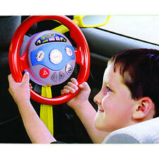 Travelling Toys Electronic Backseat Driver Kids Play Steering Wheel Real Noises