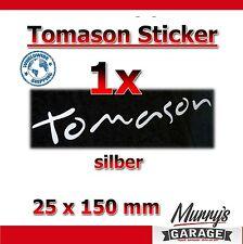 1x TOMASON SILBER - 25x150mm - Aufkleber, Sticker, Decal, Étiquette