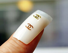 BRAND NAME GOLD CHARMS FOR NAIL STICKERS DIOR LOUIS VUITTON VERSACE D&G PLAYBOY