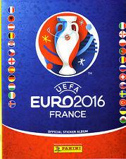 Fußball Football PANINI SAMMELBILD ALBUM FRANCE EURO 2016 LEER + 6 STICKER EXTRA