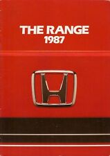Honda 1987 UK Market Brochure Civic Shuttle CRX Integra Accord Prelude Legend