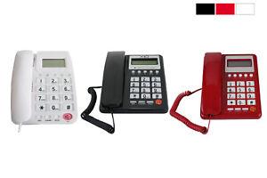 Telefono fisso con tasti grandi da tavolo display funzione calcolatrice casa