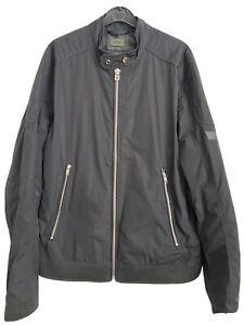 Mens Diesel Black Biker Style Summer Jacket Size XL