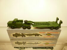 DINKY TOYS 660 TANK TRANSPORTER MIGHTY ANTAR - ARMY GREEN - VERY GOOD IN BOX