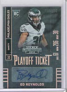 2014 PANINI CONTENDERS ED REYNOLDS ROOKIE AUTOGRAPH #rd 199