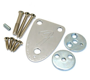 Fender USA 3-bolt Neck Plate Kit for 70s Stratocaster/Telecaster Guitar