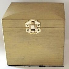 "Vintage Hinged Wooden Trinket Storage Box 4 1/2"" x 3 1/2"" x 4"""