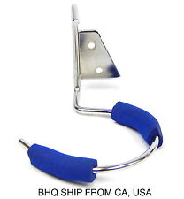 1pc Blow Dryer Single Ring Metal Wall Mount Holder Blue