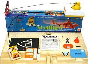 Vintage 1971 Mattel VertiBird Astronaut Rescue Helicopter w/Box & Insert Works