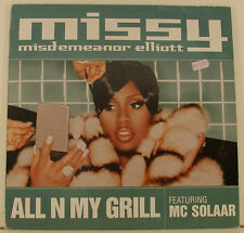"MISSY MISDEMEANOR ELLIOTT ALL N MY BARBECUE FEAT. MC SOLAAR 12"" MAXI UNIQUE i311"