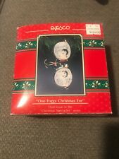 Enesco Christmas Ornament: One Foggy Christmas Eve:Spectacles Mice 3rd New
