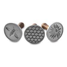 Nordic Ware 01250 Honey Bee Cookie Stamps, Set of 3