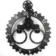 Modern Design Mechanical Trangle Gear Clock Wall Art Hanging Wheel