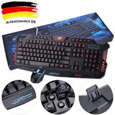 QWERTZ Gaming Tastatur und Maus Keyboard Set LED USB für PC Laptop PS4 Xbox DHL