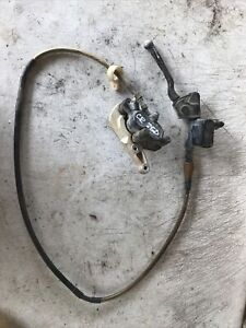 1989 Honda CR 250 front caliper, master cylinder and line