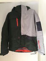Crane Snow Extreme Mens XL Snowboard Jacket Grey/Green Check.