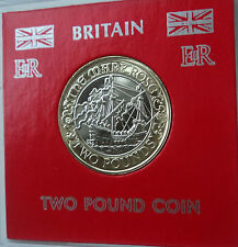 2011 Mary Rose Maiden Voyage Bimetallic £2 GB Rare BU Coin in Display Gift Case