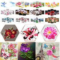 Flowers Diamond Painting 5D DIY Full Drill Cross Stitch Kit Embroidery Decor