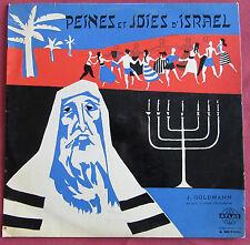 J GOLDMANN ET SON GRAND ORCHESTRE LP ORIG FR  PEINES ET JOIES D'ISRAEL