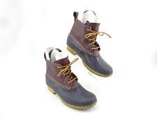 LL BEAN Wine Burgundy Navy Bean Boots Duck Boot Women's Size 7 M USA Made