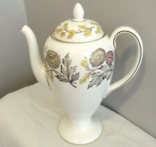 """PATTERN LICHFIELD WEDGWOOD CHINA LARGE 4 CUP 8"""" COFFEE POT & LID EXCELLENT"""