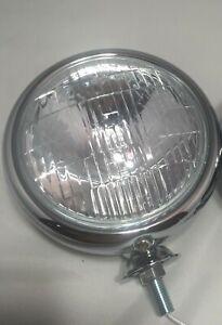 "Single 5"" Vintage Style Clear Lens 12V Fog Light Lamp, Car Truck Hot Rod"