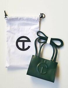 Telfar Designer SMALL Olive Green Shopping Bag Vegan Leather New! *IN HAND*Tote