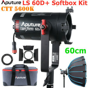 Aputure LS 60d 60W Daylight COB LED Video Photography Light 5600K 60cm Softbox