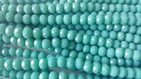 Joblot of 10 strings (720 beads) 8mm Turquoise solid Crystal beads new
