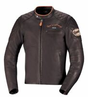 iXS Elliot Leather Vintage Motorcycle Jacket with Armor Brown Mens