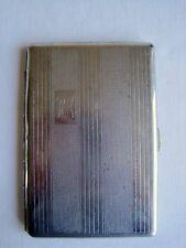 Vintage Folding Metal Cigarette Case Engraved RA