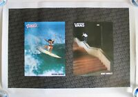 Vintage Vans Poster Surfer Megan Abubo Skater Geoff Rowley Surfboard Skateboard