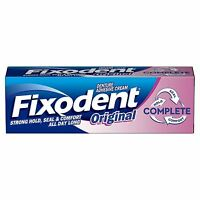 Fixodent Original Complete Denture Adhesive Cream Strong Hold Food Seal Comfort