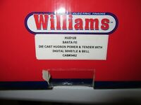 Williams O-Guage Die Cast Hudson Style 4-6-4 Locomotive & Tender Whistle & Bell