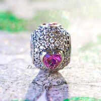 Authentic PANDORA Captivating Pave Heart 791815CZS Sterling Silver Charm